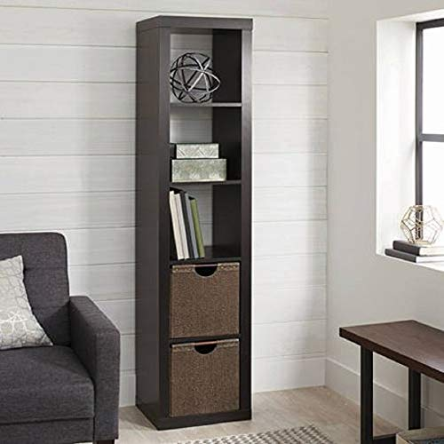 Better Homes and Gardens.. Bookshelf Square Storage Cabinet 4-Cube Organizer (Weathered) (White, 4-Cube) (Espresso, 5-Cube Horizontal/Vertical) ()