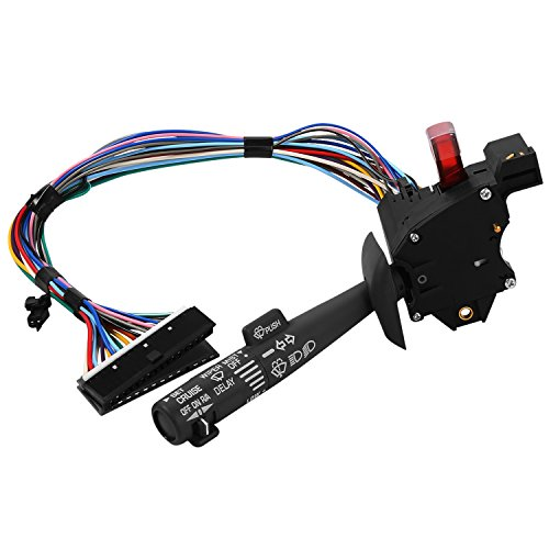 Gmc K3500 Headlight Switch - Multi-Function Combination Switch for | Chevy Tahoe, Blazer, Suburban, GMC K1500 & More | Replaces Part # 2330814, 26100985, 26036312 | Turn Signal, Wiper, Washers, Hazard Switch, Cruise Control