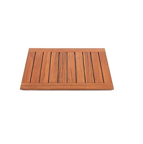 New Grade A Teak Wood Large 30''x24'' Door / Shower/ Spa / Bath Floor Mat #WHAXLFM