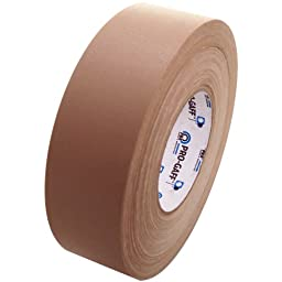 Pro Gaff Gaffers Tape 1 and 2 inch widths, 17 colors available, 2 inch, Tan/Beige