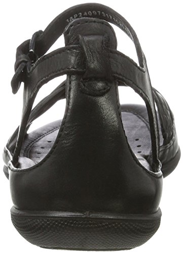 Flash 2001black Sandals Black Women's ECCO Hw6qxAn