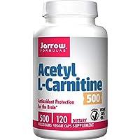 Jarrow Formulas Acetil L-Carnitina 500 mg, Compatible con protección antioxidante para el cerebro, 120 cápsulas