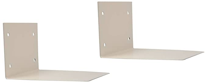 Smart Shelter Invisible Wall Mount/Conceal/ Floating Book Shelf, Large (White) - Set of 2
