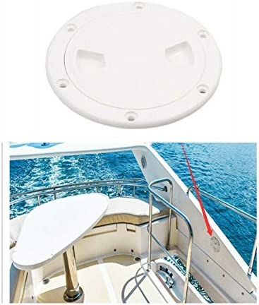 ABS Anti-aging 9.84/'/' Boat Round Non Slip Inspection Hatch with Detachable Cover