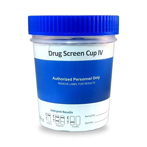 25 Cups - CUP IV Urine Drug Test Kits - 12 Panel Multi Drug Screen Cup | Urine Drug Screening + FDA CLIA Waived, AMP, BAR, BUP, BZO, COC, THC, PCP, MTD, MDMA, OXY, MET, OPI, MOR (25)