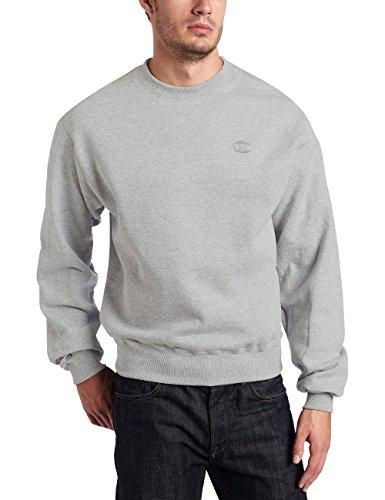 Champion Men's Pullover Eco Fleece Sweatshirt (XXL, Oxford Gray (no contrast))