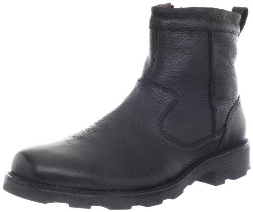 Florsheim Men's Trektion Plain Toe Zip Winter Boot, Black, 8 M US (Plain Toe Rubber Boot)