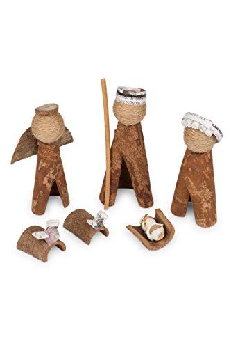 Ten Thousand Villages Brown And White Cinnamon Bark Nativity 'Cinnamon Bark Nativity' by Ten Thousand Villages