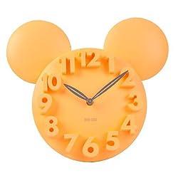 LOCOMO Modern Design Mickey Mouse Big Digit 3D Wall Clock Home Decor Decoration