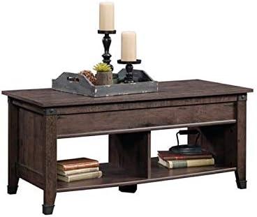 Amazon Com Pemberly Row Lift Top Coffee Table In Coffee Oak Furniture Decor