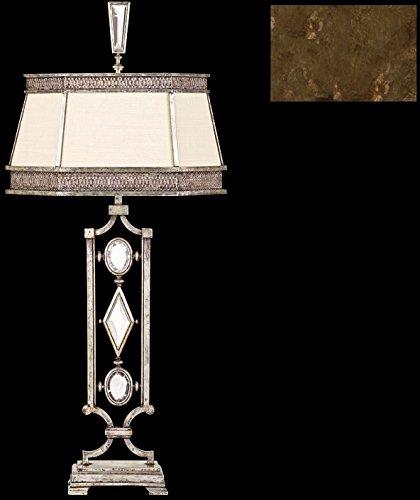 - Fine Art Lamps 707210-3, Encased Gems 3 Way Crystal Table Lamp, 1 Light, 18 Watts, Bronze