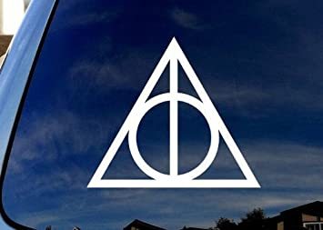 Amazoncom Deathly Hallows Harry Potter Stickers Of Die - Vinyl window decals amazon
