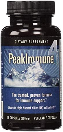 Daiwa Peak Immune 4 – Immune System Booster Rice Bran and Shitake Mushroom Supplement for Natural Immune Support 2-Pack