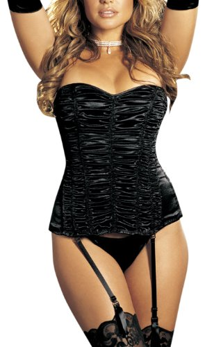 Crossdressing Halloween Costumes (Shirley of Hollywood Women's Pebble Corset,Black,38)