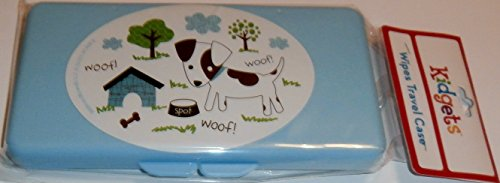 Blue Puppy Dog Baby Wipes Case
