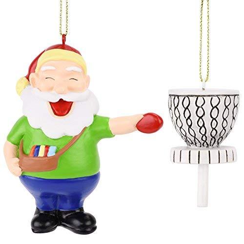 Tree Buddees Santa Frisbee Disc Golf Christmas Ornament 2 Piece Set ()