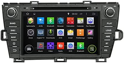 KUNFINE Android 8.0 Otca Core Car DVD GPS Navigation Multimedia Player Car Stereo for Toyota Prius Left Driving 2009 2010 2011 2012 2013 2014 Steering Wheel Control 3G WiFi Bluetooth Free Map Update