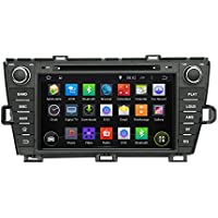 8 Android 6.0 PRIUS DVD GPS Player Otca Core Car Radio left driving For TOYOTA PRIUS 2009 2010 2011 2012 2013 With Car Stereo Radio WIFI Bluetooth Steering Wheel Control