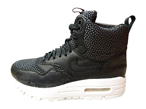 Nike Air Max 1 Sneakerboot Tech Hi Top Trainers 826601 Sneakers Shoes (US 6.5, Black Summit White 001)