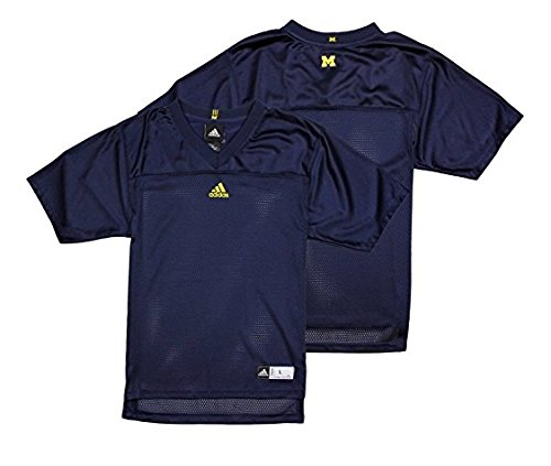 (Michigan Wolverines NCAA Big Boys Blank Replica Jersey - Navy Blue (XL (18/20)))