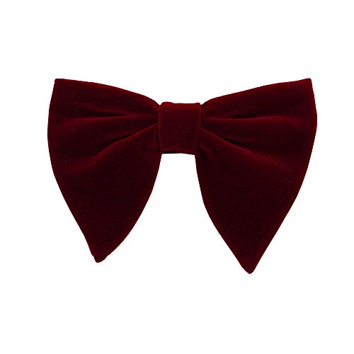 (Velvet Bow Tie Mens Pre-Tied Satin Formal Tuxedo Big Bowtie for Men Velvet Bow Knot)