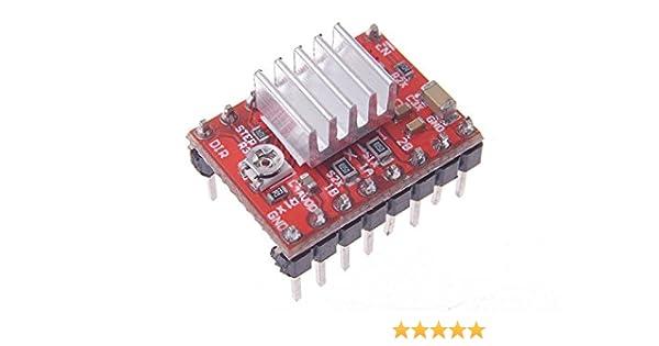 SMAKN Stepper Motor Driver Board PCB Module A4988 disipador de ...