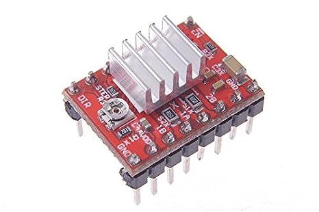 SMAKN Stepper Motor Driver Board PCB Module A4988 Heat Sink for 3D Printer