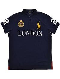 Mens Big Pony City Custom Fit Mesh Polo Shirt