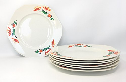 Dinner Plates Handpainted by Alfred Meakin ()
