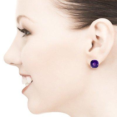 QP bijoutier améthyste boucles d'oreille en or 9 carats, 7.20ct 2323Y-Coussin