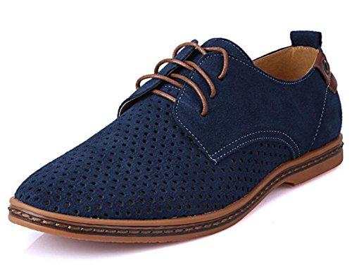 de Lacets Bleu Chaussures Casual Ville WUIWUIYU Homme à Derbies qntCYUzw8