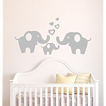 Elephant Family Wall Sticker Removable Vinyl Wall Decal Elephant Wall  Decorative Unisex Wall Sticker For Baby Part 36