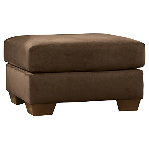 Ashley Furniture Upholstery - Ashley Furniture Signature Design - Darcy Ottoman - Ultra Soft Upholstery - Contemporary - Cafe Brown
