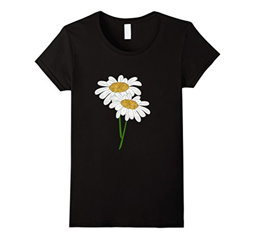 Womens Cool Glitter Daisy Flower T Shirt Daisies Flowers Tee Shirt XL - Daisy T-shirt Flower