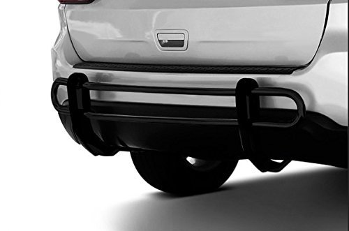 Black Horse Off Road 8D071116A Black Rear Bumper Guard Double Tube