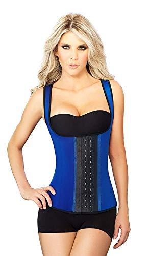 ANN CHERY Women's 3 Hooks Body Shaper Latex Sport Vest Shapewear, Blue M/34