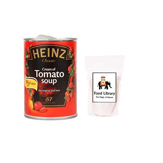 FOOD LIBRARY Combo Heinz Cream of Tomato Soup-400 g with Rock Salt/Sendha Namak-200 g