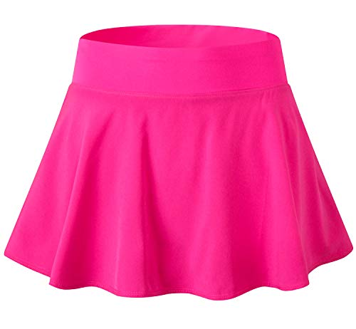 - Tailloday Women's Sports Pleated Elastic Quick-Drying Yoga Tennis Skirt with Panty(Rose,L)