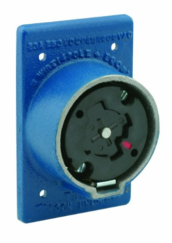 Leviton 25415-B 30 Amp, 600 Volt AC , 20 Amp-250 Volt DC 4-Pole 5-Wire Non-NEMA Grounding, Locking Plug by Leviton