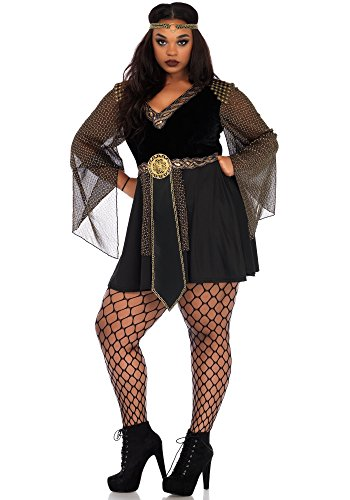 Leg Avenue Women's Plus Size Glamazon Amazon Warrior Costume, Black 1X / 2X
