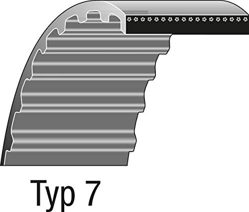 Ratioparts Keilriemen Typ 7-856-8M-12 f/ür Aufsitzm/äher Rasentraktor Zahnriemen Gr/ün