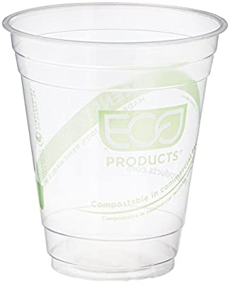 Eco-Products ECOEPCC12GSPK GreenStripe Cold Cups, Compostable Plastic PLA (Pack of 50)