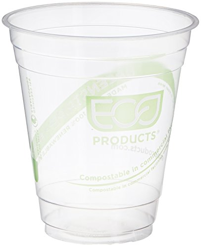 Pla Cups Cold - Eco-Products ECOEPCC12GSPK GreenStripe Cold Cups, Compostable Plastic PLA (Pack of 50)