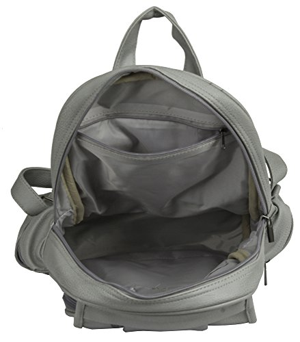 Unisex 2 Leather Backpack Bag Vegan Size Light Big Shoulder Design Rucksack Medium Beige Shop Handbag gwqpW7E