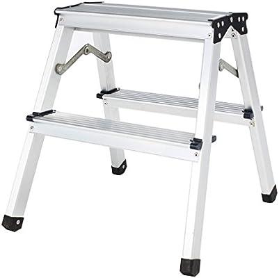 homgrace Escalera aluminio escalera plegable doble niveles aluminio escalera escalera escalera – Escalera plegable, soporta hasta 150 kg, 2 peldaños/3 niveles/4 niveles/5 peldaños a elegir.: Amazon.es: Bricolaje y herramientas