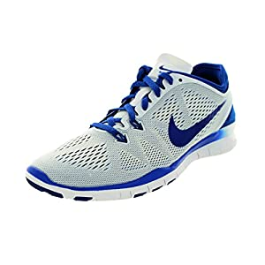 Nike Womens Free 5.0 Tr Fit 5 White/Game Royal Turf Soccer Shoe 10 Women US