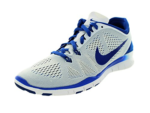 Nike Womens Us Game (NIKE Women's Free 5.0 TR Fit 5 White/Game Royal Training Shoes 7.5 Women US)