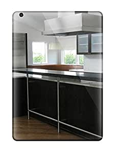 Snap-on Case Designed For Ipad Air- Contemporary Black And White Kitchen With Raised Countertop