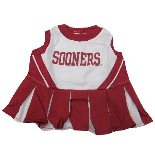 (Pets First NCAA University of Oklahoma Sooners Cheerleader Dog Outfit, Medium)