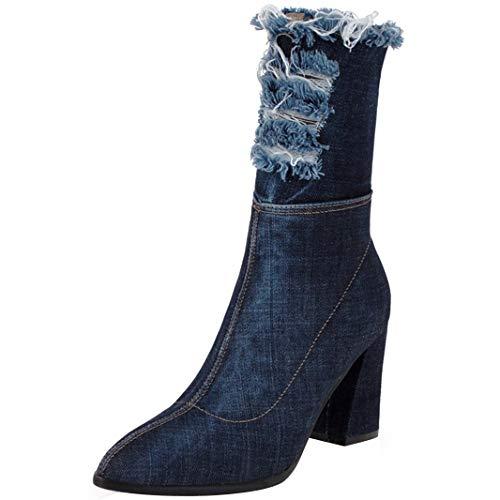 Mavirs Womens Matiri Block Heel Mid-Calf 8.5 cm B(M) Boots, Synthetic, 8.5 B(M) cm US B07GLT2DNB Shoes b738a5